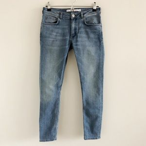 & Other Stories Blue Stretch Skinny Jeans 27
